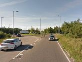 Man dies after crashing into roundabout on A16