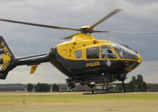 Helicopter search after 'suspicious' van hits police vehicle