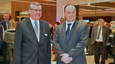 Ben Duckworth, Managing Director (right) and Andrew Shaw Head of Business for Duckworth Jaguar Land Rover