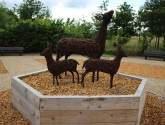 'Totally unacceptable': Vandals steal ornate wicker deer from Grimsby cemetery