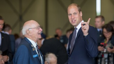 The Duke of Cambridge, Prince William, at RAF Coningsby for the anniversary of the Battle of Britain Memorial Flight. Photo: Sean Strange for Lincolnshire Reporter