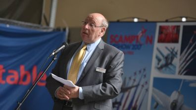 Scampton Airshow Chairman and RAF Charitable Trust Trustee Alan Smith. Photo: Steve Smailes for Lincolnshire Reporter