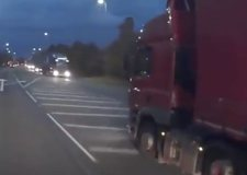 Lorry driver's dangerous A17 overtake caught on camera