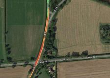 Road closed after serious crash near Bourne