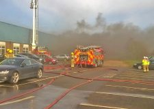 Large fire at Grantham recycling business under control