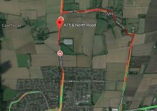 Biker seriously injured in A15 Bourne crash
