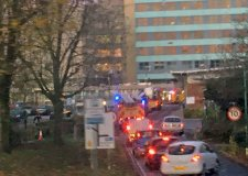 Firefighters rush to put out blaze at Boston hospital