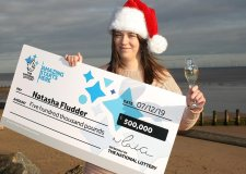 Christmas joy as Skegness mum wins £500k lottery prize