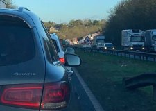 Three crashes cause major delays in Grantham