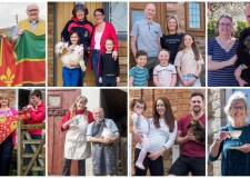 Caythorpe in isolation: Photographer captures doorstep family portraits