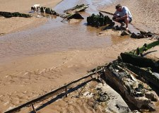Wrecked WW2 aircraft found on Cleethorpes beach