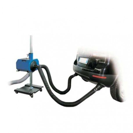 exhaust fume extractor for dual exhaust pipes