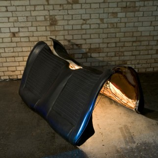 Caress, 2007. Video Installation. Colored latex, gauze, car seats, video projections. Photo by Suemasa Mareo