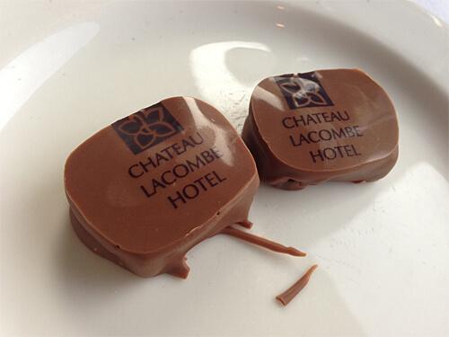 After-dinner chocolates at La Ronde Revolving Restaurant.