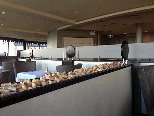 Inside La Ronde Revolving Restaurant.