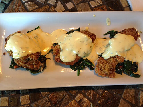 Oyster Rockefeller at Absolutely Edibles!