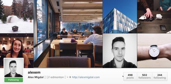Edmonton Instagram Users - alexem
