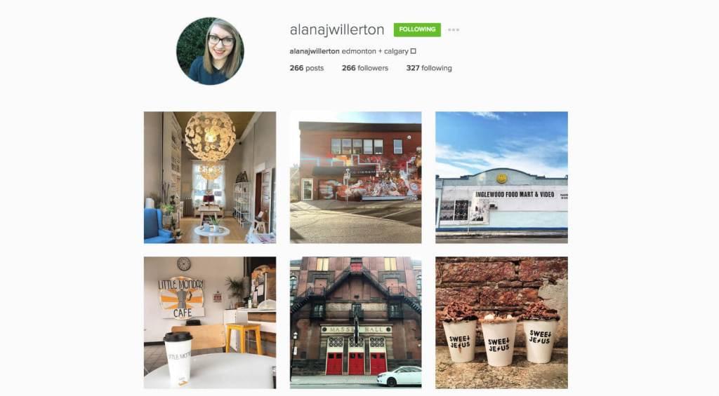 Top Edmonton Instagram Users - alanajwillerton - Social Media