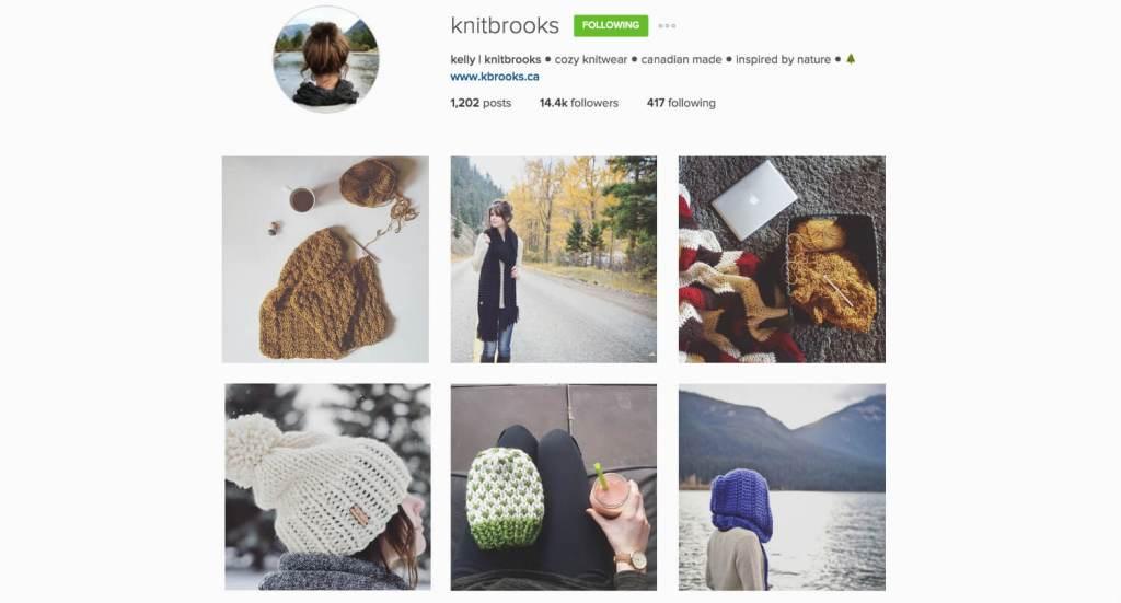 Top Edmonton Instagram Users - knitbrooks - Social Media