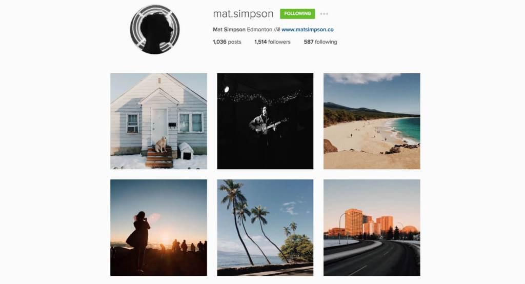 Top Edmonton Instagram Users - mat.simpson - Social Media