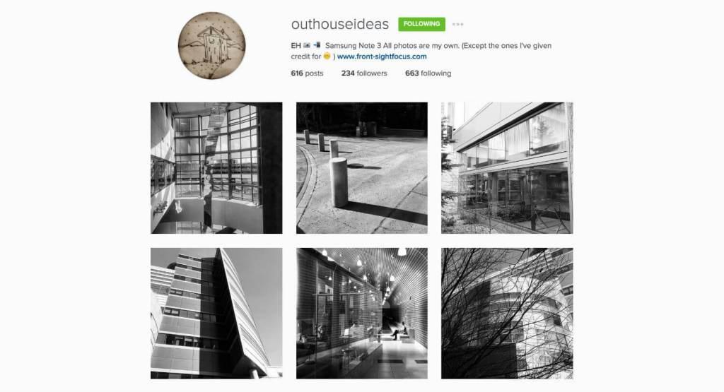 Top Edmonton Instagram Users - outhouseideas - Social Media