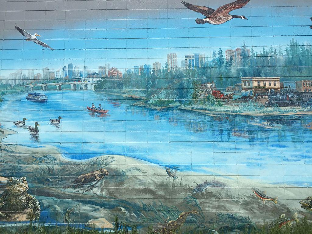 Instagrammable Wall - West Edmonton - Kris Friesen Mural