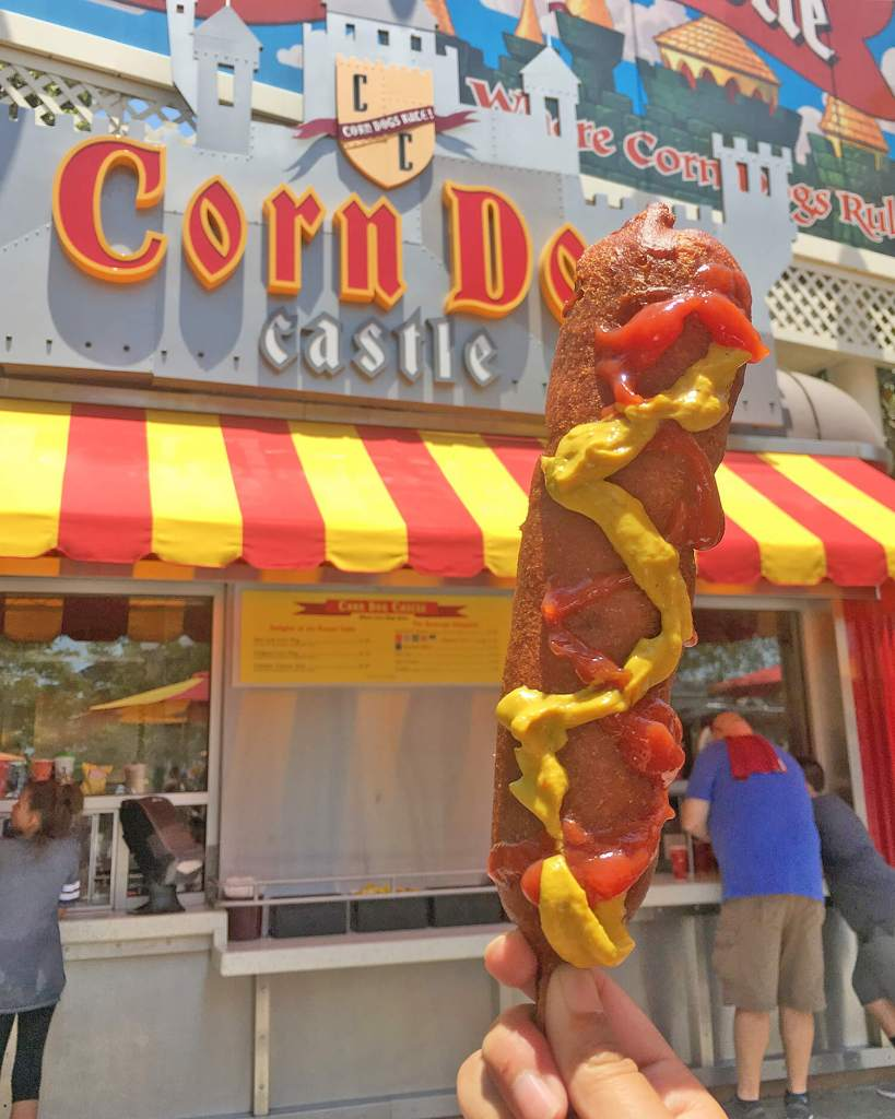 Disneyland California Adventure Food California Corn Dog Castle