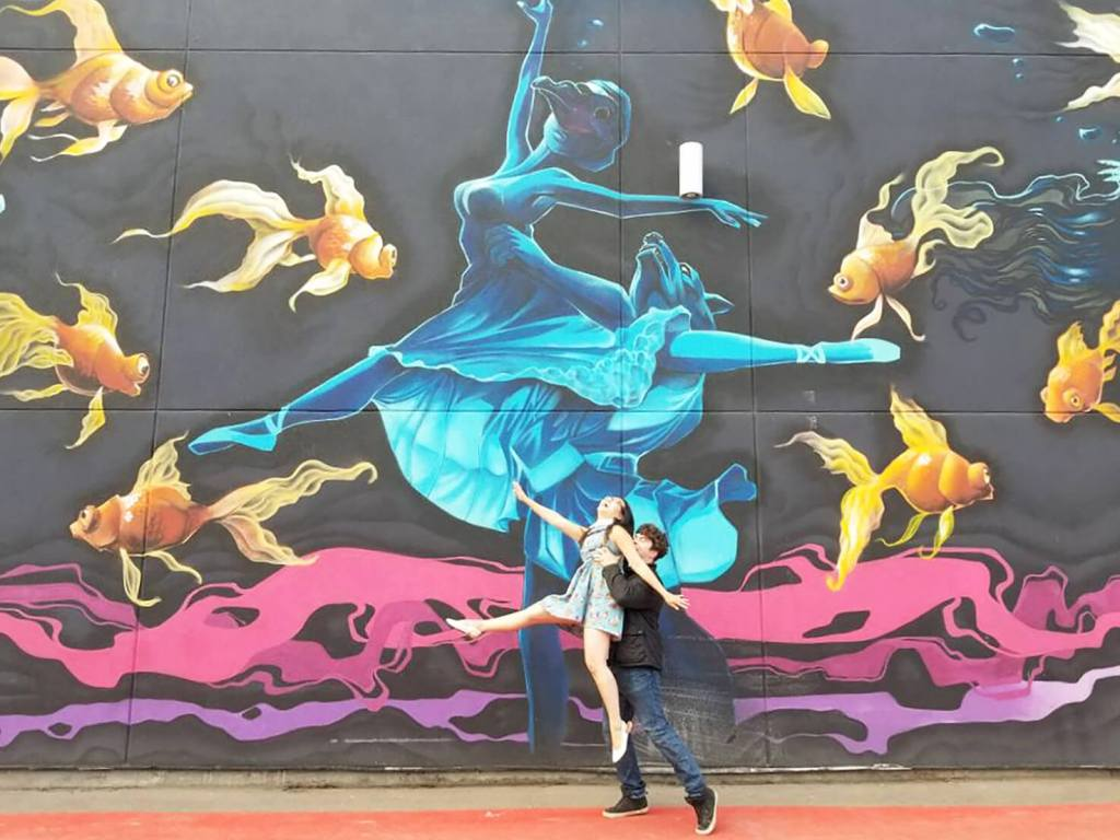 Instagrammable Walls of Calgary - Dances with Wolves Mural - Nelson Dedos Garcia Nomadic Alternatives