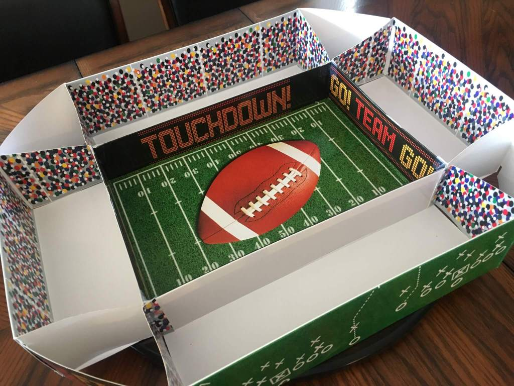 Super Bowl Snack Stadium Foldable DIY