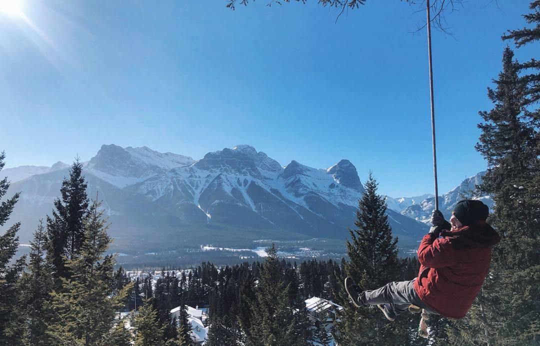 Travel Canmore Swing Kananaskis Explore Alberta