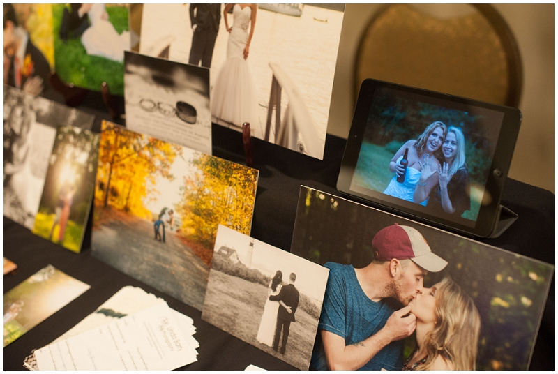 bridal show, photography table