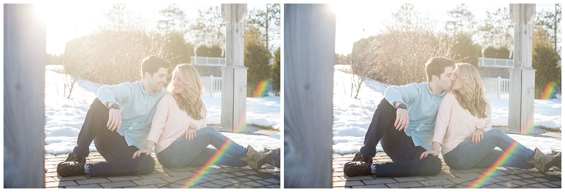 sunflare, PVCC golf course, engagement photo