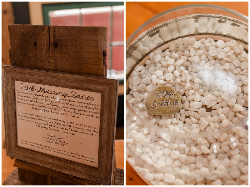 Emily and Nick were married at Stone Mountain Arts Center. Click here to see more wedding images by Linda Barry Photography. Irish Stepping Stones guest book.