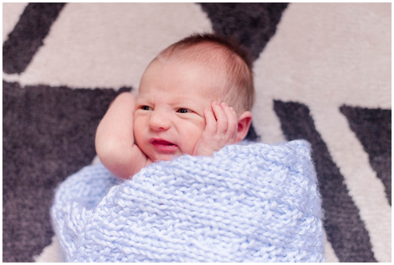 We did Harrison's lifestyle newborn session in their home in Southern Maine. All photos by Linda Barry Photography.
