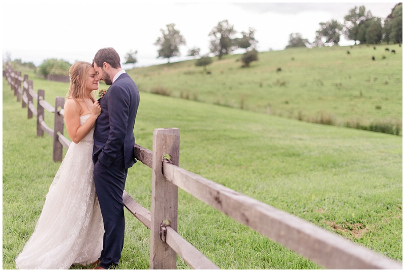 Newlywed photos outside at the Barn at Gibbet Hill.
