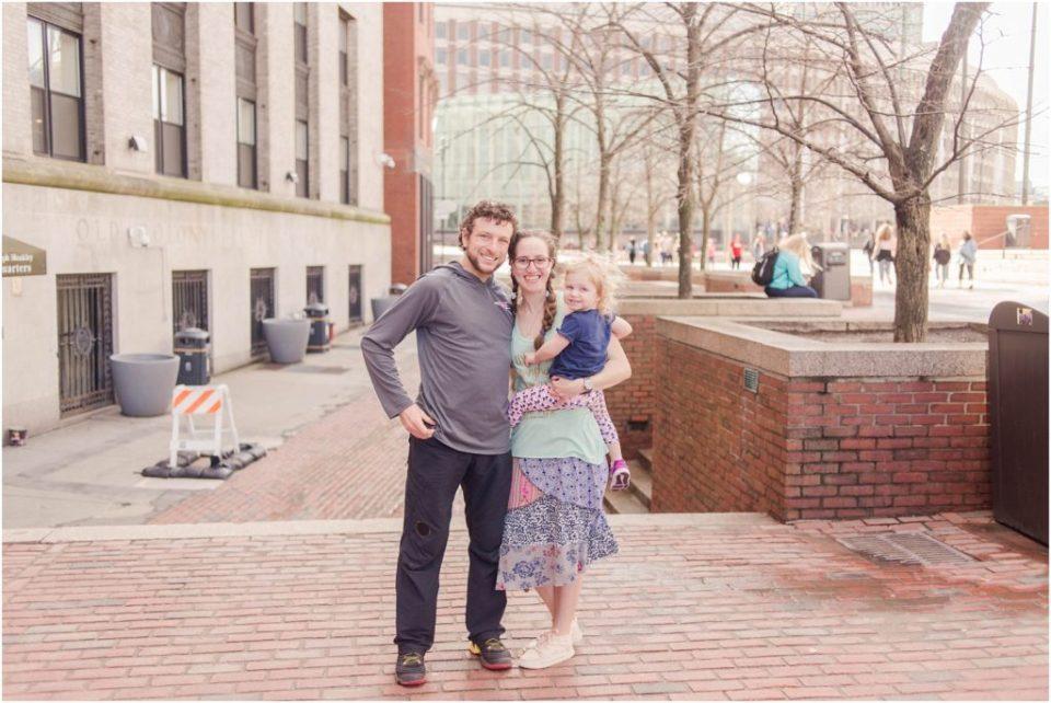 A new family photo in Boston near Fanueil Hall!