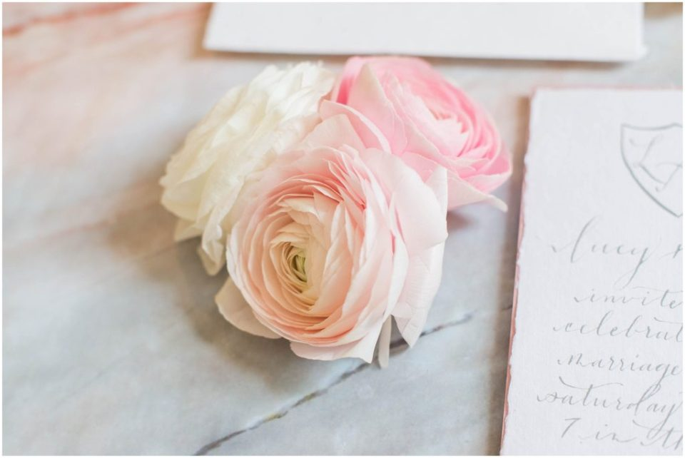 Beautiful blush and ivory peonies look good with anything!