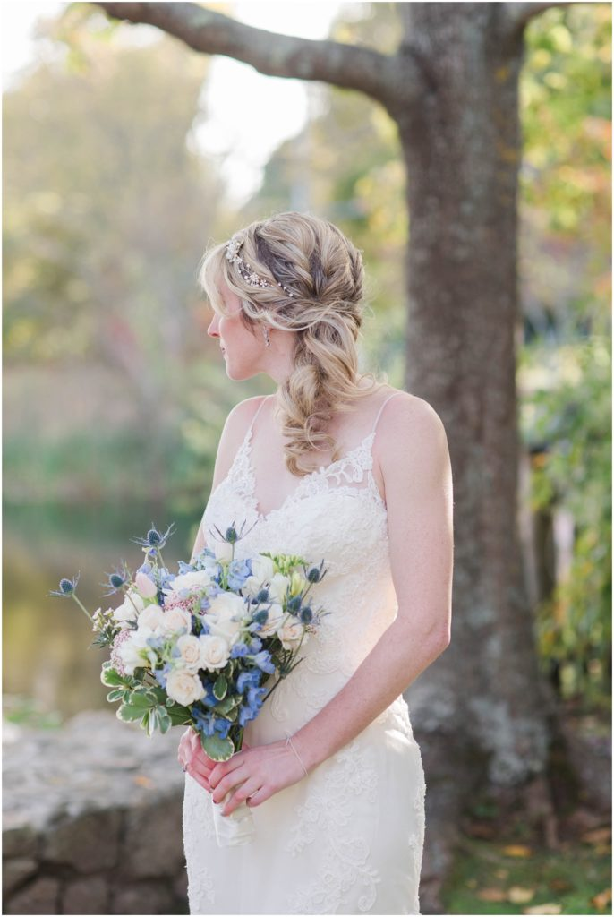 bride portrait from this wedding at the Dan'l webster inn