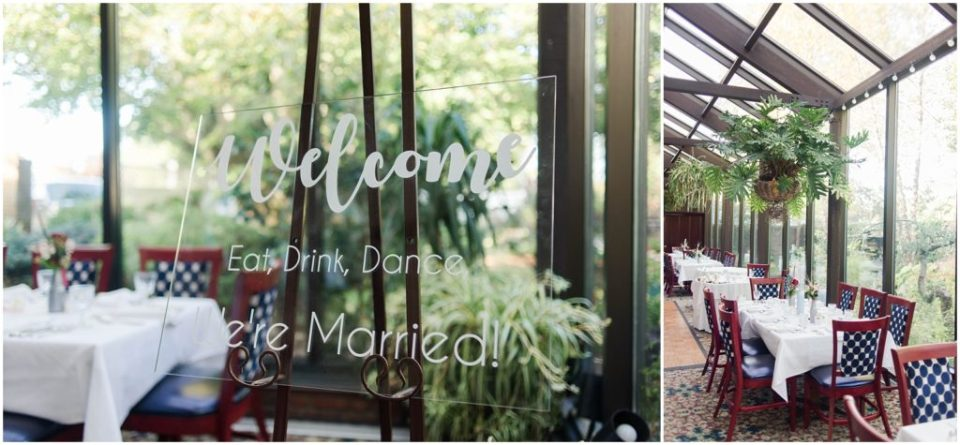 Reception details from this wedding at the Dan'l Webster Inn