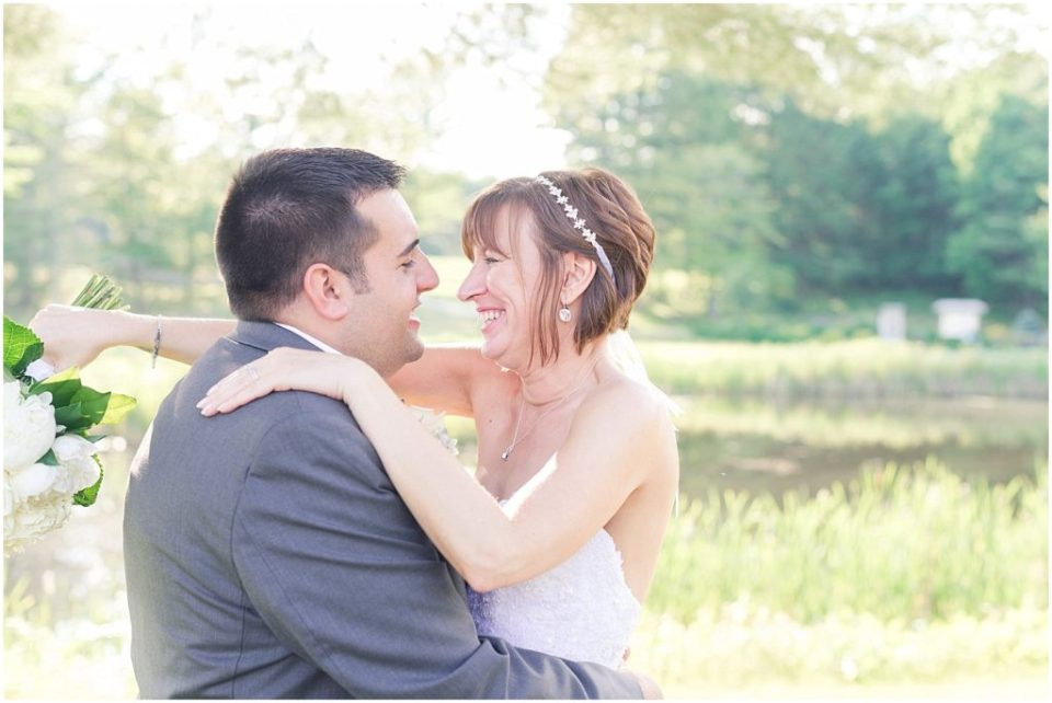 Kellie and Justin on their wedding day.