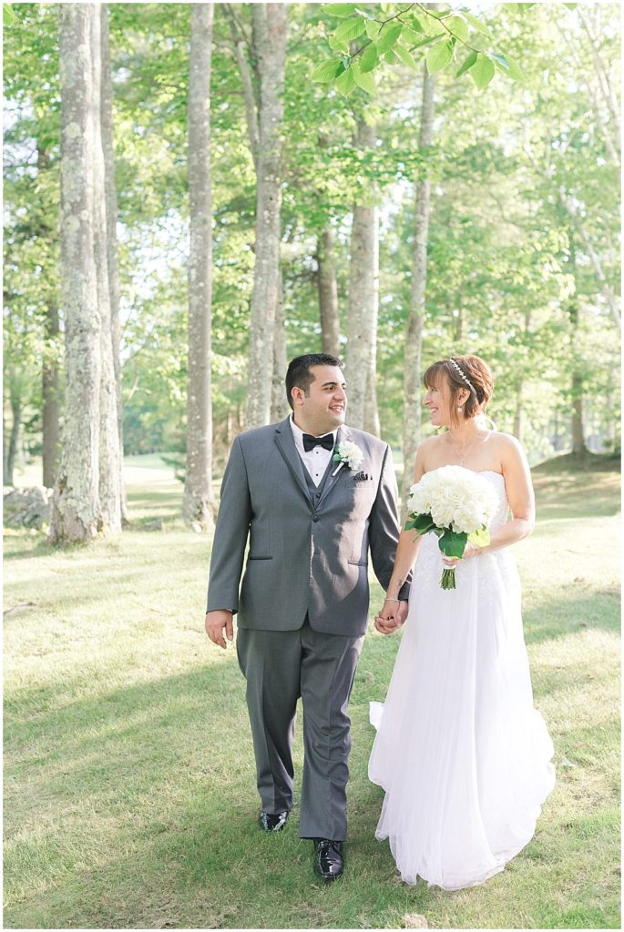 Summer Wedding at the Woodlands Club in Falmouth, ME.