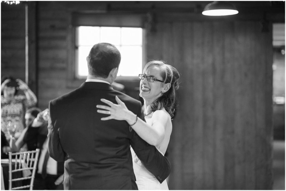 Emily and Matt's first dance at the Hillstead Museum wedding venue.