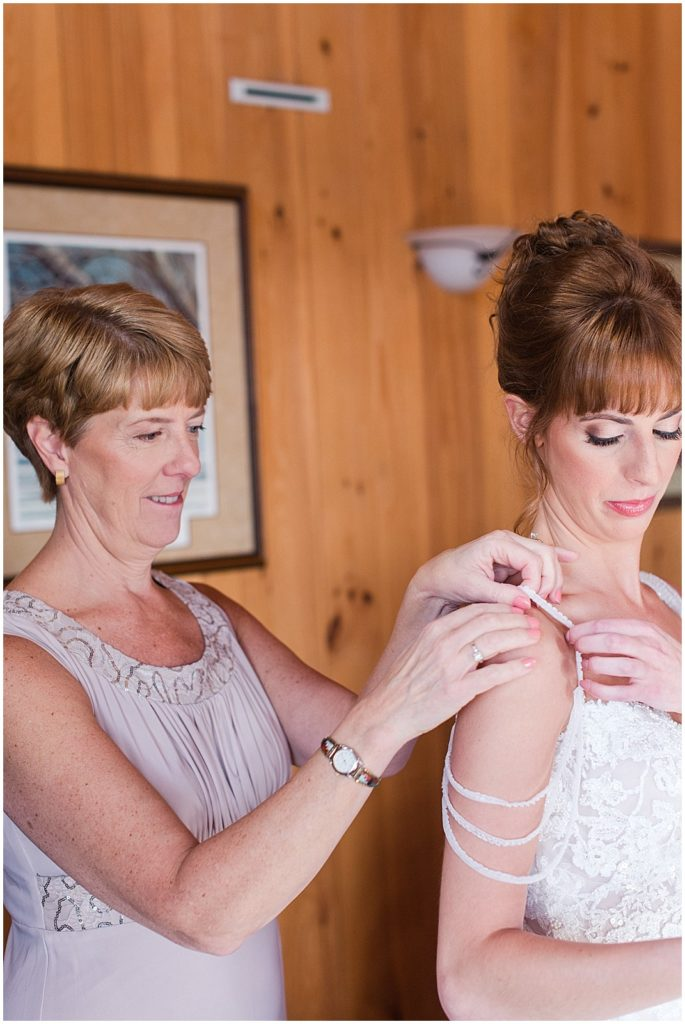 Bridal prep in the lodge.