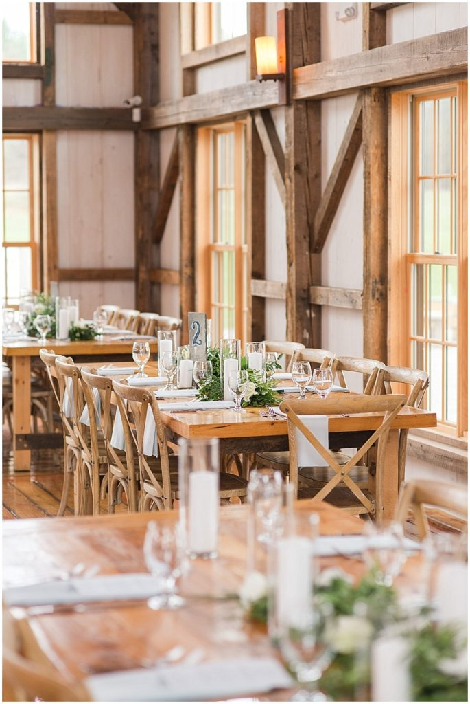 The reception space at Valley View Farm.