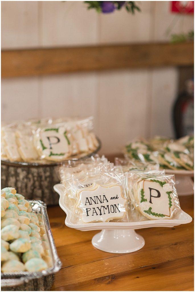 Custom wedding day cookies.