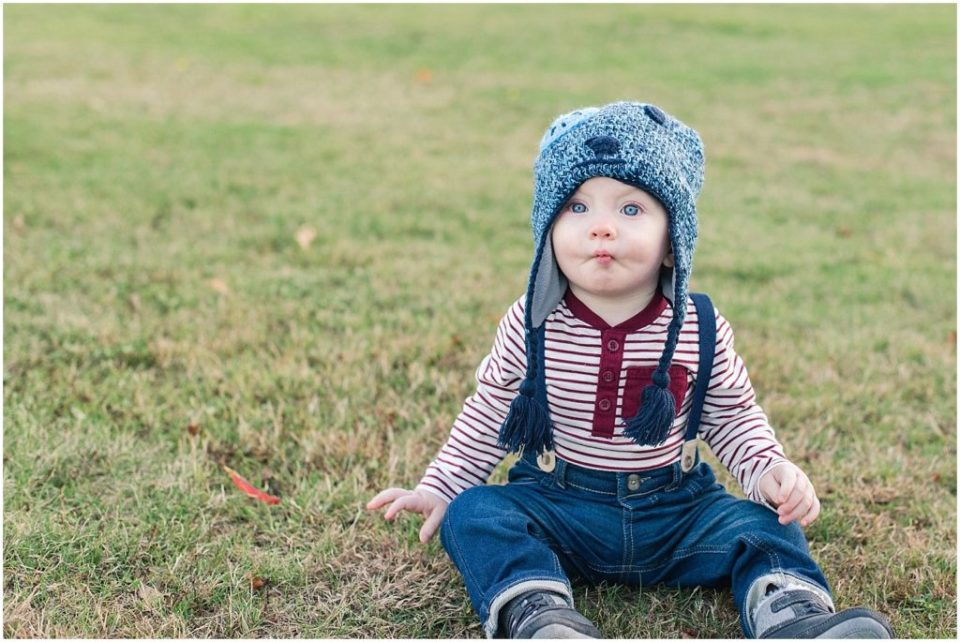 Photos of a toddler at Odiorne State Park.