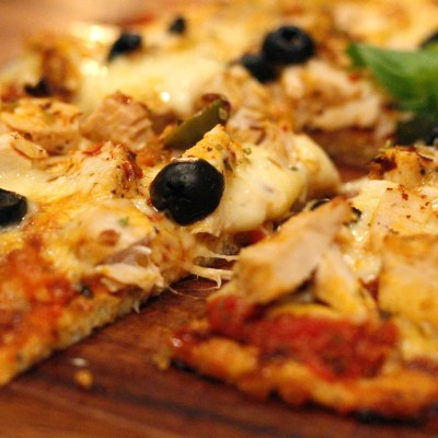 Blómkáls pizza degi uppskrift