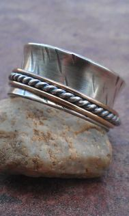 brass silver spinner