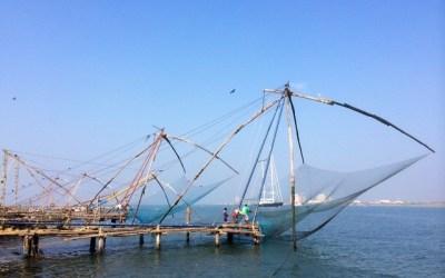 Chinese fish nets Kerala, India