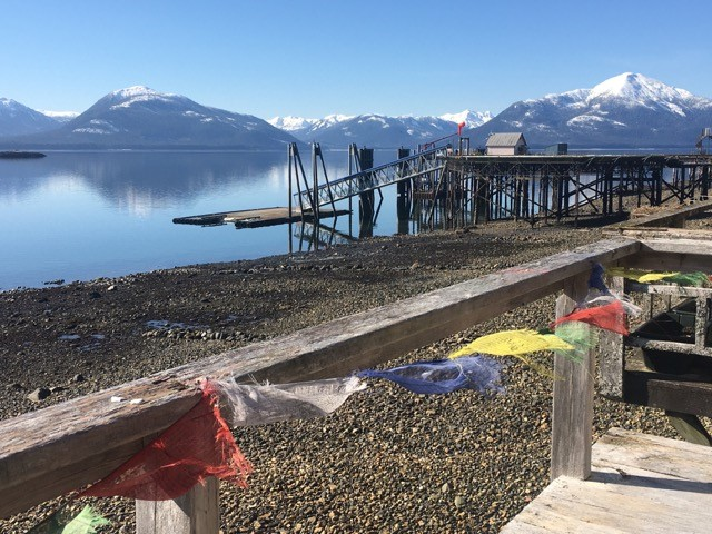 tenakee beach-prayer-flags